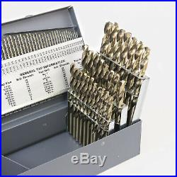 Hurricane M42 Cobalt 115 Piece Drill Bit Set Fractional Letter Wire Sizes