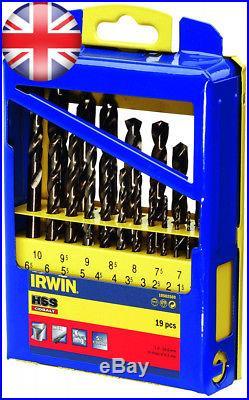 IRWIN 10502569 HSS Pro Cobalt Drill Bit Set (Pack of 19)