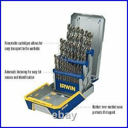 IRWIN Drill Bit Set, M35 Cobalt Steel, 29-Piece (3018002) Fast Shipping US