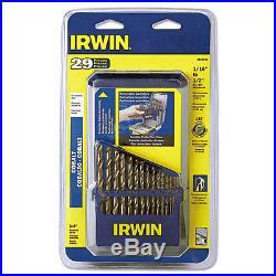 IRWIN (IRW3018002) 29-PIECE HIGH-SPEED COBALT STEEL DRILL BIT SET WithCASE