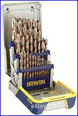 IRWIN Tools Cobalt High Speed Steel Drill Bit 29Piece Metal Index Set Kit Supply