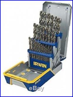 IRWIN Tools Cobalt High-Speed Steel Drill Bit, 29-Piece Metal Index Set
