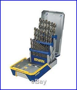 IRWIN Tools Cobalt High-Speed Steel Drill Bit, 29-Piece Metal Index Set 3018002B