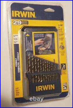 Irwin 3018002 29 Piece Cobalt Drill Bit Set (Packaging Slightly Damaged)