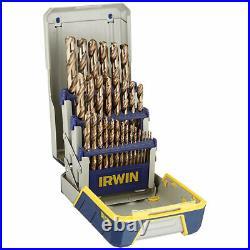 Irwin 3018002 29-Piece Cobalt M-35 Metal Index Drill Bit Set