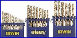 Irwin 3018002 Drill Bit Set, M35 Cobalt Steel, 29 pc