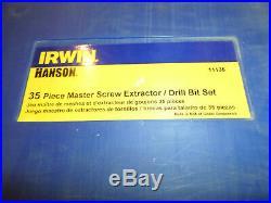 Irwin Hanson 11135 35 Piece Master Screw Extractor Set With Cobalt Drill Bit Set
