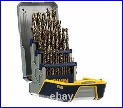 Irwin Hanson 29-Piece Cobalt M-35 Metal Index Drill Bit Set 3018002 New