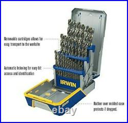 Irwin Hanson 3018002 Heavy Duty Cobalt Drill Bit Set M35 Hardness