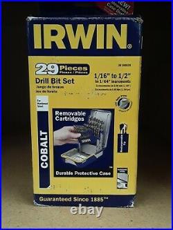 Irwin/Hanson/Vise Grip 3018002B 29 Piece Drill Bit Set-Cobalt M42