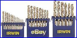 Irwin Tools 3018002 29-Piece Cobalt M-35 Metal Index Drill Bit Set with Case
