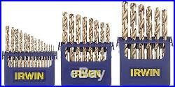 Irwin Tools 3018002 Cobalt M-35 Metal Index Drill Bit Set 29 Piece New