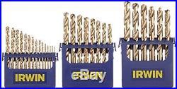 Irwin Tools Cobalt Metal Index Drill Bit Set Minimize Walk Heat Resistance 29 Pc