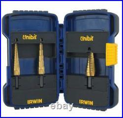 Irwin Unibit Step Drill Sets 038548155029