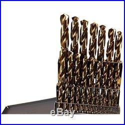 Jobber Drill Bits 29 Pc Cobalt Set M42 HSS 29pc USA Drills Lifetime Warranty In