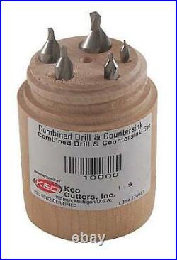 KEO 10002 Center Drill Set, Cobalt, Wire