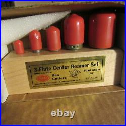 KEO 50029 90 deg 3 Flute 5 piece Center Reamer Set CO
