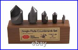 KEO 50059 Cobalt Steel Single-End Countersink Set, Uncoated (Bright) Finish