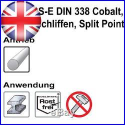 Keil Assorted Metal Drill Bit Set HSS-E DIN 338 Cobalt, Ground Split Point