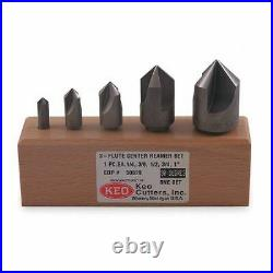 Keo 50032 120 Deg 3 Flute 5 Piece Center Reamer Set Co