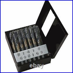 Klutch Cobalt Drill Bit Set 1/2in. Dia. Shank, 12-Pc. Set