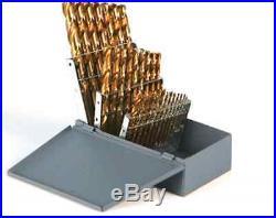 Klutch Cobalt High Speed Steel Drill Bit Set, 29-pc, Sizes 1/161/2, 1500 RPM