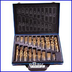 LARS360 170pcs Cobalt Drill Bit Set Drill Tough Materials Includes HSS Titanium