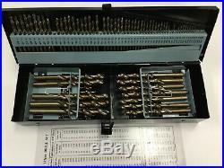 M35 HSS+5% Cobalt Premium 115ps Drill Set, 1/16-1/2+#1 to 60+A to Z, 135 Deg