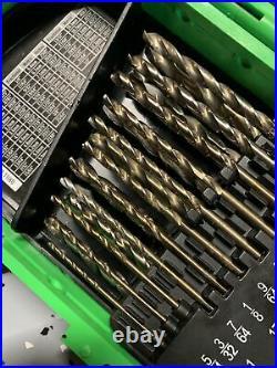 MAC Tools 29-PC GREEN Cobalt Drill Bit Set 6338DSB MOST STILL NEW