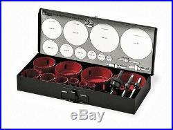 MORSE Electricians Hole Saw 13 pc Set Bi-Metal Kit Master Cobalt USA AV08EPD