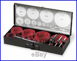 MORSE Industrial Hole Saw 19 pc Set Bi-Metal Kit Master Cobalt USA AV061