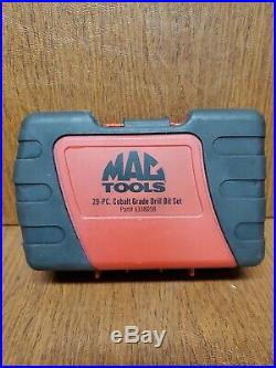 Mac Tools 29-pc Cobalt Grade Drill Bit Set 6338DSB- Complete WithCase