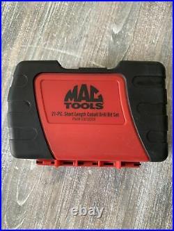 Mac Tools 6321IDSA 19 Pc Cobalt Stubby Drill Bit Set New! Free Ship