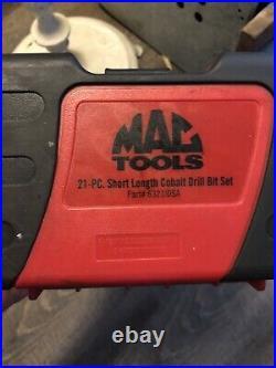 Mac Tools 6321IDSA 21 Pc Cobalt Stubby Drill Bit Set New! Free Ship