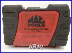 Mac Tools Part#6338DSB (Missing 3/16, 13/64, 23/64) Cobalt Grade Drill Bit Set