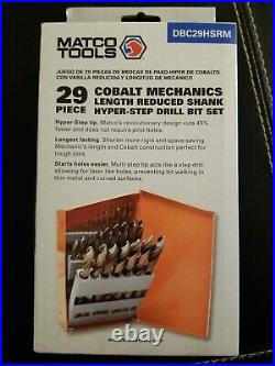 Matco 29 Piece Cobalt Mechanics Lenth Reduced Shank Hyper-Step Drill Bit Set
