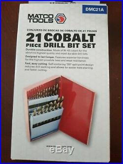 Matco Tools 21 Piece COBALT Drill Bit Set