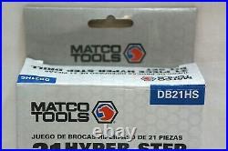 Matco Tools 21 Piece Hyper-Step Drill Bit Set DB21HS