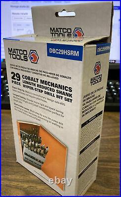 Matco Tools 29 Piece Cobalt Mechanics Length Reduced Shank Kyper-step Drill Bit