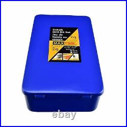 MaxTool 29 Pieces Drill Set 29PCs/29-Piece Twist Drill Bit Set 5% Cobalt HSS