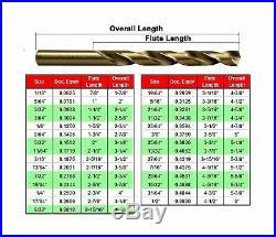 MaxTool 29 Pieces M42 Cobalt Drill Bit Set Jobber Length 8% Cobalt 136 Deg S