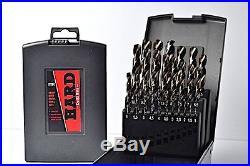 Metal Drill Bit Set 25 Piece Cobalt Drill Set Metric (1mm-13mm x 0.5mm)