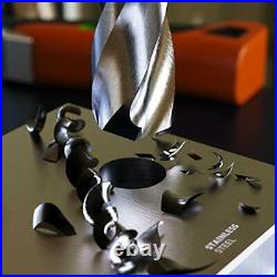 Metal Drill Set HSS Cobalt 19 pcs Hardened Self Centering Steel Drill