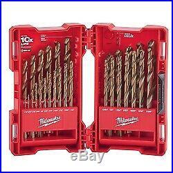 Milwauke 48-89-2332 Milwaukee 29-Piece Cobalt Red Helix Drill Bit Set