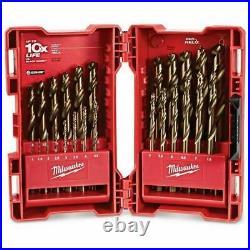 Milwaukee 1-13mm Metric Hss-cobalt Metal Jobber Drill Bit Set Red Helix 25 P