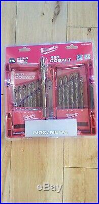 Milwaukee 25 Piece HSS-G Red Cobalt Drill Set
