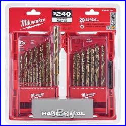 Milwaukee 48-89-2332 29 Pc RED HELIX Cobalt Drill Bit Set