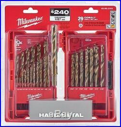 Milwaukee Cobalt Drill Bit Set Twist 3-Flat Power Tool Accessories 29-Piece