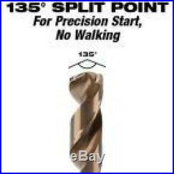 Milwaukee Cobalt Drill Twist Bit Set 3-Flat 135-Degree Split Point (29-Piece)