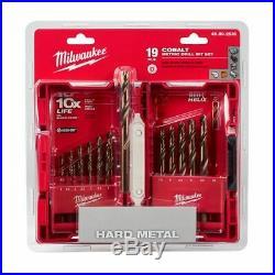 Milwaukee METRIC HSS-COBALT METAL JOBBER DRILL BIT SET 1-10mm 19Pcs USA Brand